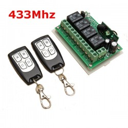 2V 4CH Channel 433Mhz Wireless Remote Control Switch With 2 Transimitter