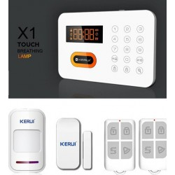 KERUI X1 LCD Touch Wireless 120 Zone PSTN PIR Door Sensor Remote Control Home Security Alarm System
