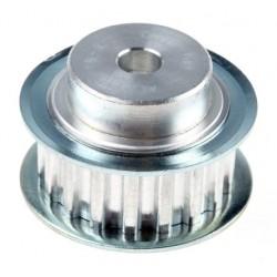 Roda dentadaAluminio 18 dientes , 5mm espaciado , 6mm calibre , 20mm diá. de acoplamiento
