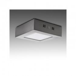 Luz de Teto LED Quadrado 120Mm 6W 430Lm 50.000H Cetim de Níquel